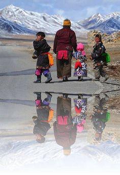 Heading home. Tibet