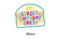 McDonald's Burger Birthday Party in Wien auf sunny. Partys, Burger King Logo, 5th Birthday, Aurora, Birthdays, Anniversaries, Northern Lights, Birthday, Birth Day