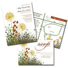 Meadow Wedding Invitations by ImpressInk on Etsy, $50.00