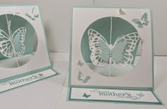 Personally Yours : Stampin' Up! Butterflies Thinlits: Mother's Day Easel Suspension Spinning Card