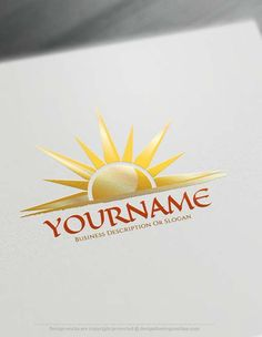Create online sunset Logo Design with Free sun Logo Creator. Branding wide range of businesses with our free sunrise Logo maker
