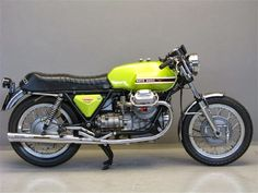 1970s Moto Guzzi V7 Sport with lime green paint