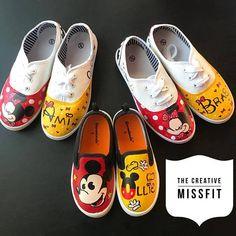 e3ba5e207bcf Custom Mickey Or Minnie inspired shoes