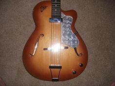 Vintage Eko Archtop Guitar F Hole 1960 S Hollow Body Electric Acoustic Zero Fret Archtop Guitar Jazz Guitar Guitar