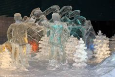 Fashion over 40; ice sculpture in Focus Alaska a series @ High Latitude Style @ http://www.highlatitudestyle.com