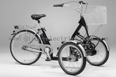 2 wheel front and one rear wheels,Battery,charger,motor: 24 months-Electric Tricycle