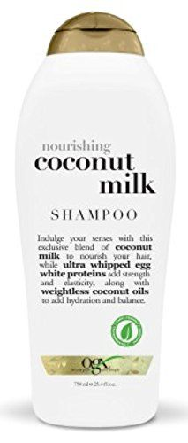 OGX Organix Shampoo Coconut Milk 254oz 3 Pack * Want additional info? Click on the affiliate link Amazon.com on image.