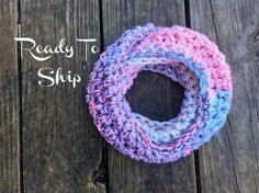 Toddler Infinity Scarf Multicolor Pink Blue Gray White Toddler
