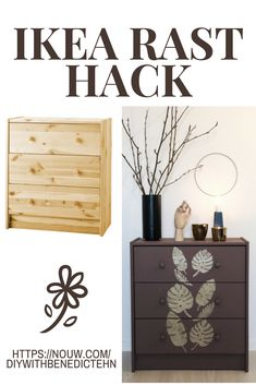 Ikea rast hack, before and after. diywithbenedictehn