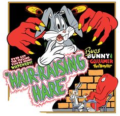 Hair-Raising Hare #Poster by #IrishManReynolds #Ink on #DeviantArt #David Byrd #originalwork