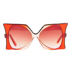 "1960's Iconic Pierre Cardin Oversize Red ""Delphine"" Sunglasses"