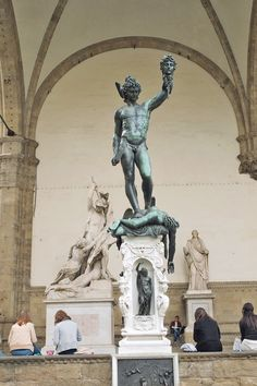 Cellini's Perseus statue at the Loggia dei Lanzi