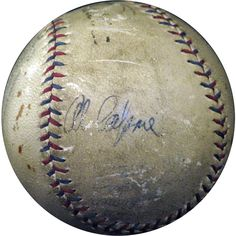 Al Capone signed baseball with Babe Ruth autograph too.  Could sell for $200,000.
