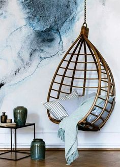Hanging chair.