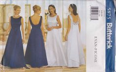 Fitted Dress Pattern Mother of Bride Evening by PrettyfulPatterns