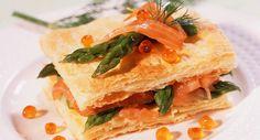 Mille-feuilles asperges et saumonVoir la recette du Mille-feuilles asperges et saumon >>