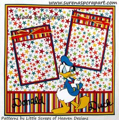 12 X 12 Premade Scrapbook Page Donald Duck by SyrenasScrapArt, $20.00