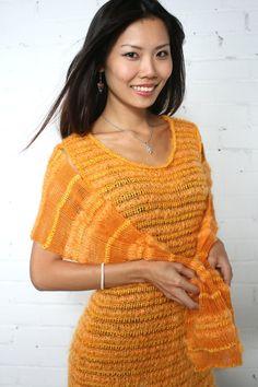 Wool Dress Knitted Dress Matching Shawl Lace by BlueKittensHQ