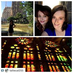 #Repost @talliecat255 Visited the most beautiful church I've ever been into in my life and reunited with my best friend in Spain. Could it get any better?  #barcelona #sagradafamilia #stainedglasswindows #bestfriend #spain #studyabroad #ispyapi #españa