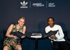 A$AP Rocky & Jeremy Scott Launch Adidas Black Flag Sneaker #NYFW