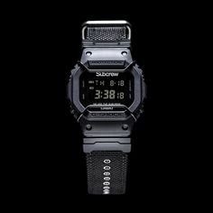 Subcrew x G-Shock 2017 Back To Black Collaboration Watch G Shock Watches, Casio G Shock, Sport Watches, Best Watches For Men, Cool Watches, Men's Watches, Air Jordan, G Shock Limited, Reebok