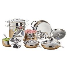 Chef's Mark 14pc Stainless Steel Cookware Set