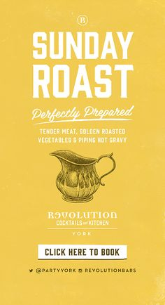 Sunday Roast Graphic Design Poster, Typography, Illustration Designs by www.diagramdesign.co.uk