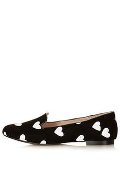 SWOON Heart Print Slippers - Ballet Pumps & Slippers - Flats  - Shoes