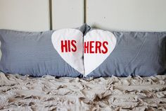 DIY his & hers pillow cases