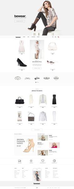 Bewear – Lookbook Style eCommerce Published by Maan Ali
