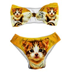 "Dare To Bare In Cat Inspired Swimwear... ""Excuse me miss. where is your cat print section?"" @nikki striefler Ferreira"
