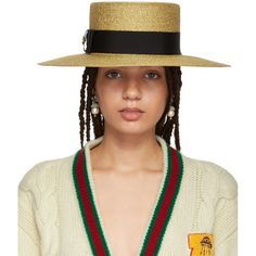 -- Gucci Gold Alba Hat -- only always Fashion Brand, Luxury Fashion, Gold Hats, Love Hat, Hats Online, Boater, Outfits With Hats, Streetwear Brands, Black Cotton