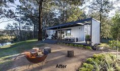 Stylish Container Home Less Than 50.000 $ - Living in a Container Building A Container Home, Container Cabin, Container Buildings, Container Architecture, Container House Plans, Cargo Container, Sustainable Architecture, Container Home Designs, Gazebos