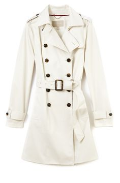 White trench, $240, Banana Republic, too expensive for me but I do like it.