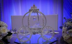 Cinderella Carriage Cake Topper Centerpiece by DollyDollz on Etsy, $55.00