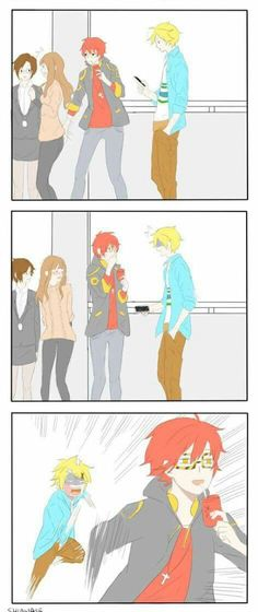 OMG!!!  It's a Tamen De Gushi x Mystic Messenger  I need more of these crossovers!!!!!!!!!!!