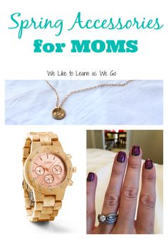 Do you want to spruce up your spring wardrobe with some fun, but also practical accessories?  As moms we have to be a little more picky about our accessories since we always have kids in reach.  Check out my favorites here!  #ad #springfashion2015 #jordwatch    www.weliketolearnaswego.com