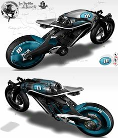 Saline Bird Motorcycle Sketch design
