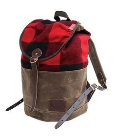 This backpack makes me want to go camping! From http://www.woolrich.com/woolrich/details/wool-summit-pack/_/R-11001?colorId=RED.