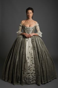 Claire in her Wedding Dress for her wedding to Jamie #Outlander