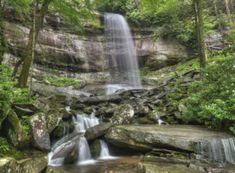 Rainbow Falls in the Roaring Fork area of the Great Smoky Mountains National Park