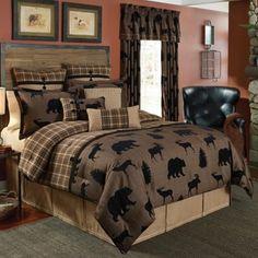 Croscill® Summit Comforter Set in Brown - BedBathandBeyond.com