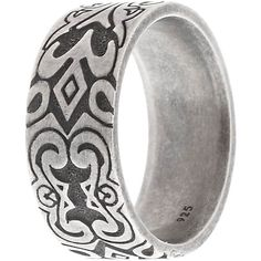 Caï Ring found on Polyvore featuring polyvore, mens, men's jewelry, rings and silver
