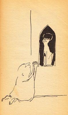 A Cat-Hater's Handbook: Irreverent Vintage Gem Illustrated by Tomi Ungerer – Brain Pickings Cat Jokes, Humor Grafico, Cat Lady, Illustration, Design Art, Graphic Art, Gems, Drawings, Pictures