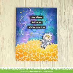 Chari Moss | may all your birthday wishes come true | Lawn Fawn June Inspiration Week: How You Bean? Stars Add-on
