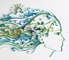by Julia Brodskaya - Havas.com ad. Quilling art.