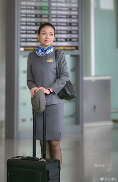 Airline Uniforms, Cabin Crew, Flight Attendant, Silk Scarves, Tights, Mini Skirts, Female, Lady, Exhausted
