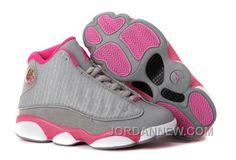 http://www.jordannew.com/girls-air-jordan-13-gray-pink-white-for-sale-free-shipping.html GIRLS AIR JORDAN 13 GRAY PINK WHITE FOR SALE FREE SHIPPING Only $88.00 , Free Shipping!