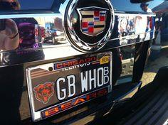 Chicago Bears Glitter License Plate - Black