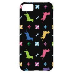 Colorful Dachshund Print iPhone 5C Case